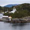 Ferry pass small island West Norway