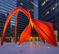 Iconic sculpture by Calder - circa 1973 - located in the Federal Plaza in downtown Chicago, IL