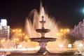 Midnight fountain
