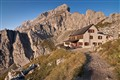 Rifugio Coldai (2,135 m) Mountain Hut in the Dolomites