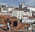 Lisbon - a guitar player
