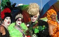 four carnival ladies