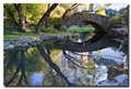 Gapstow Bridge in Central Park, located in the center of New York City.