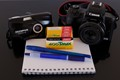 The new (Canon), the old (Olympus), the blue (pens) and the last Kodak roll (still unexposed): 20+ years of photography !