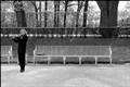 Musician in Tsarskoïe Celo park near St Petersburg