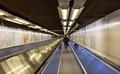 Paris metro walkway