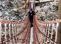 I pondered lonely on a bridge,...