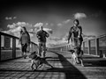 Walking the Dogs - Amble Pier, Northumberland UK