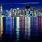 Tokyo reflects: The Tokyo night skyline taken from Toyosu Gururi Park