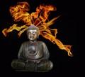 buddha in flames - OM!