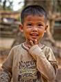 Boy behind Angkor Thom