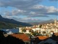 Croatia - City of Korčula on the island of the same name (Pelješac peninsula in the background)