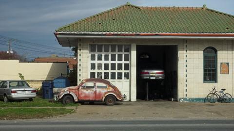 At the Garage (Large)