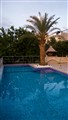Our pool at dusk in Crete