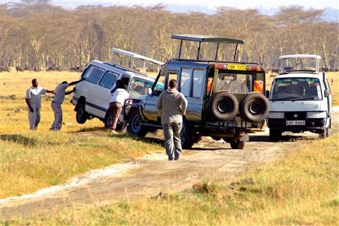 Stuck Minibus