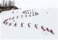 Ski racer's montage