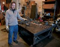 Blacksmith/MetalWorker/Artist - John: in his Studio