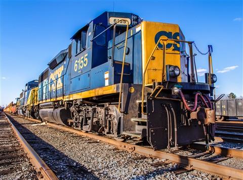 Locomotive close oblique