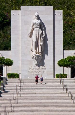Lady Columbia, Punchbowl Cemetery, Honolulu, Hawaii