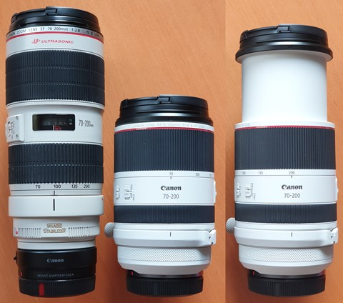 EF RF Comparison for the 70 - 200mm