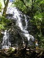 Costa Rica Rincon Park. Ticos at Pailas Waterfall