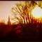 Islip church at sunset