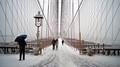 Brooklyn Bridge snow NYC