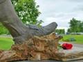 Bronze shoe of Lou Brock
