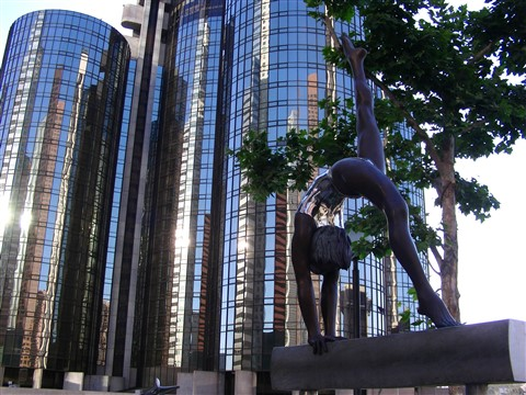 Westin Bonaventure Hotel and the Gymnast, Los Angeles