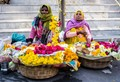 Flower sellers in Udaipur. Poor but proud.