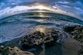 sunrise over blowing rocks at jupiter island