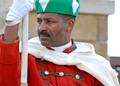 The Guard in front of Mausoleum of Mohammed V, Rabat, Morocco