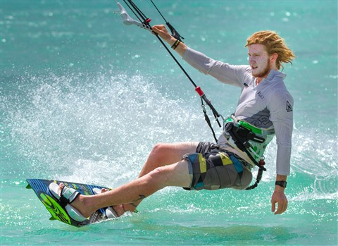 Aruba Kitesurfing a Talented Male Kitesurfer