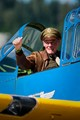 WWII Army Air Corps pilot at Arctic Thunder airshow at Joint Base Elmendorf Richardson, Alaska  July 27, 2014.