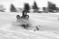 winter people hill sliding
