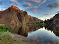cathedral rock sunrise-/ John Day river / Oregon