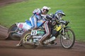 Dueling speedway riders