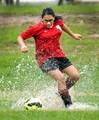 Soggy soccer