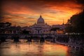 Sunset At The Basilica - Rome, Italy