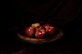 Apples in chiaroscuro style