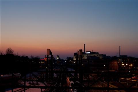 uitzicht vanaf spoorbrugjan2012_
