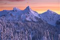 Snow Capped Tatoosh Range at sunset