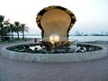 A Giant Pearl down by the water front in Qatar