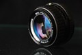 A ridiculously over-produced eBay photo of a Pentax K 50/1.4 prime lens