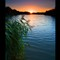 Sunset over Peatmore lagoon 1