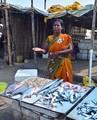 Fish seller on Chennai beach