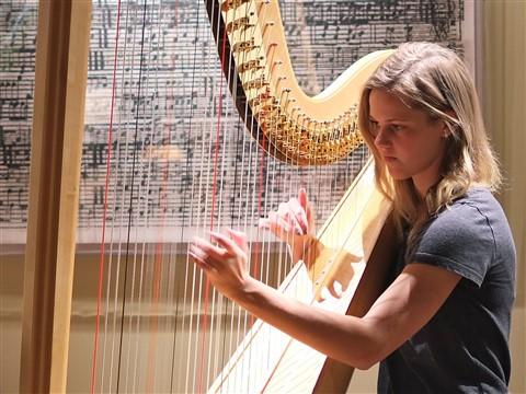 Emily on Harp