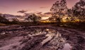 Dirt + Water = Mud...+ Sunset & Reflections!