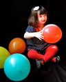 Emilie and balloons