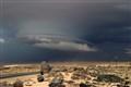 Storm in the Namib Desert